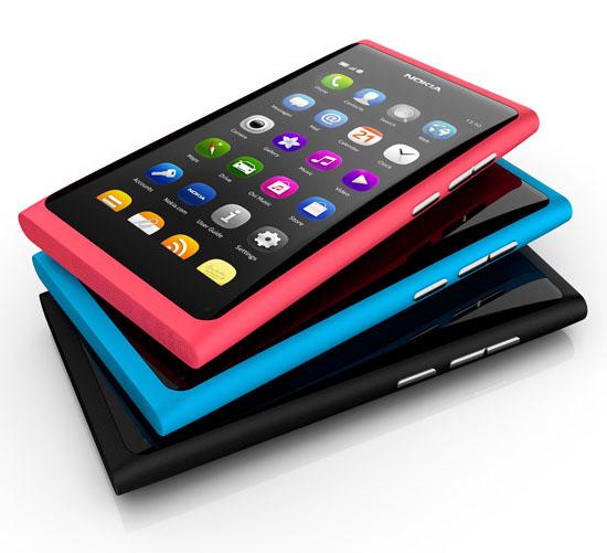 Nokia N9:s olika färger