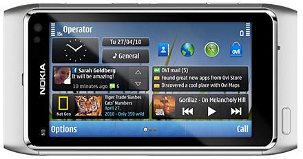 Nokia N8 liggande