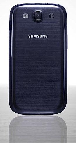 Baksidan på Samsung Galaxy S III