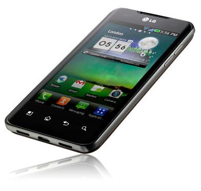 LG Optimus 2X vinkel