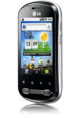LG Optimus Me hemskärm