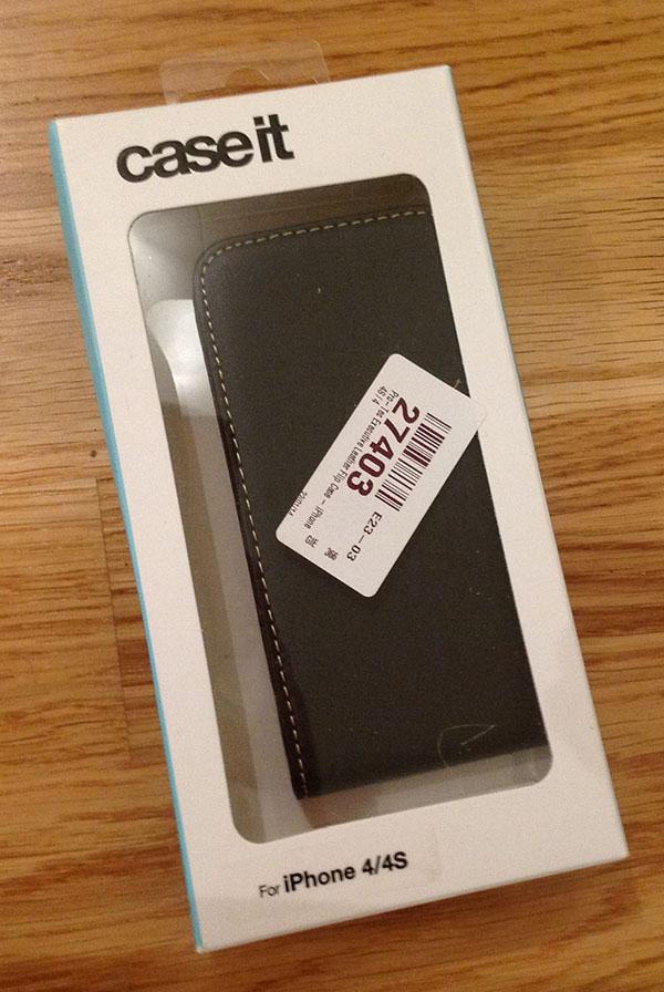 Case It Executive Leather Flip Case iPhone 4/iPhone 4S