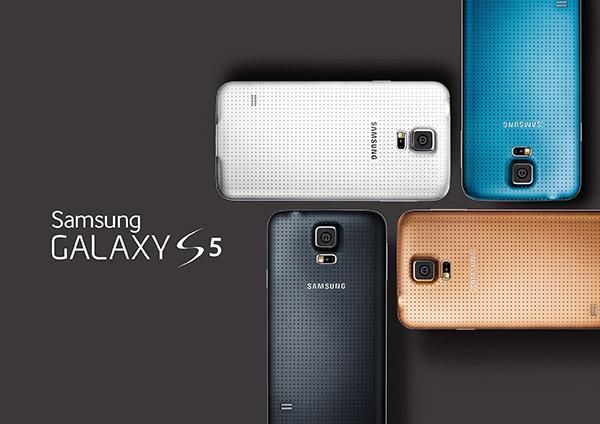 Samsung Galaxy S5 glam i grupp