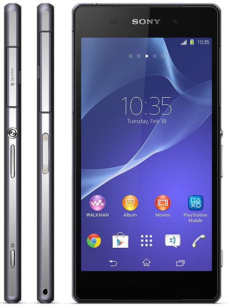 Svart Sony Xperia Z2